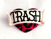 Broche corazon rosa leopardo tras nuevo bisuteria complementos regalo pin up
