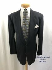 "GIORGIO ARMANI Italy Men's 2 Pc Suit Size 43R 2 Button W 36"" I 28"" Wool Navy"