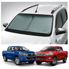 Chrome Window Sun Vent Visor Rain Guards 4P D965 For Toyota 2016 Hilux Dual