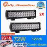 "2X 12""inch 72W LED Work Light Bar Spot Flood Combo Off road SUV Trailer Boat 4WD"