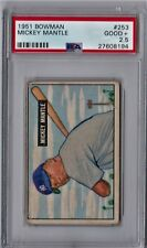 1951 Bowman Mickey Mantle Rookie #253 PSA 2.5 CS134
