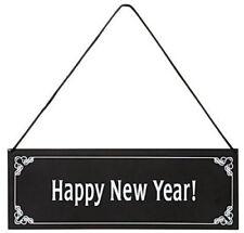 """Metall-Schild""""Happy New Year""""DINNER FOR ONE/der 90.Geburtstag""""Silvester""""23x8cm"""
