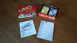 UNO Deluxe 2012 (Complete with Score Pad, Pencil, and Instructions) Sealed Cards