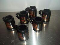 RUMPLE MINZE PEPPERMINT SCHNAPPS MINI SHOT MUGS & GLASSES 6 in All
