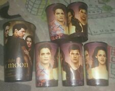 "Lot of 6-The Twilight Saga NEW MOON MOVIE 7""Plastic PROMO Cup Edward Bella Jacob"