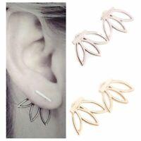 femmes simple des bijoux fleur le métal boucles d'oreilles boucles d'oreilles