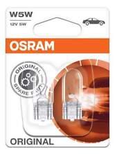 Original OSRAM Standlicht T10 12W W5W Glassockellampe Original 2er Set 2825-02B
