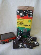 Vintage Halsam Brand Double Nine Club Dominoes Set #200, 55 Pieces