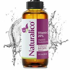 Naturalico Anti Aging Organic 20% Vitamin C Serum for Face with Hyaluronic Acid