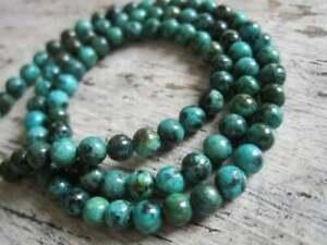 28 perles en  turquoise naturel africain 8 mm