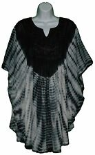 Black and White Poncho Top Made in India Rayon Material fits M L XL 1X tye dye
