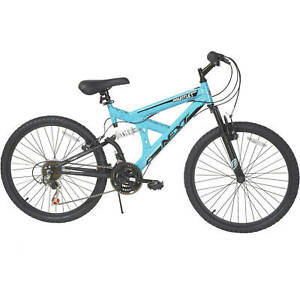 NEXT Mountain Bike for girls Bicycle 24 In 18 Speeds Dual Suspension steel frame