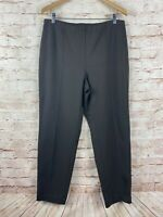 J Jill Womens Slim Leg Ponte Elastic Waist Viscose Blend Brown Pants Size Large