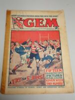 GEM #1353 JANUARY 20TH 1934 BRITISH WEEKLY COMIC TOM MERRY ORIGINAL VINTAGE^