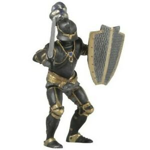 ARMORED KNIGHT BLACK 39275 SCARCE - PAPO KNIGHTS  -- NEW IN PLASTIC