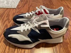 NWOB AUTHENTIC MENS NEW BALANCE 327 MS327WR WHITE RED NAVY RUNNING SHOES SZ 12