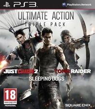 TOMB RAIDER_JUST CAUSE 2_SLEEPING DOGS_JEU PS3 _ VERS FRANCAISE _ NEUF S/CELLO