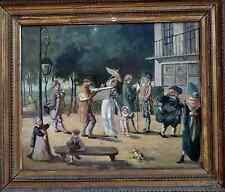 RARE PEINTURE XIXe...INCROYABLES & MERVEILLEUSES DANS UN PARC SOUS LE DIRECTOIRE