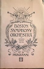 Vintage 1930 Boston Symphony Orchestra Program Advertising
