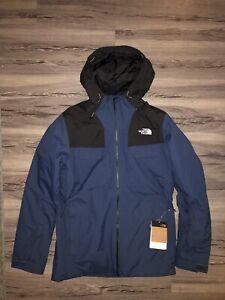 The North Face Men's Fourbarrel Triclimate Ski Jacket   Medium, blue / tnf black