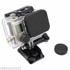 Black Camera Lens Cap Cover + Housing Case Protective Cover For Gopro HD Hero 3