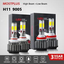 MOSTPLUS 240W 25600LM 6000K White LED Headlight High Beam 9005+ Low Beam H11