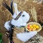 U24i Anthropomorphic Taxidermy Rabbit w/ Baby Bunny Papoose collectible display