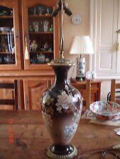 Lampe de Salon - Ancienne 1920/1930 - Forme Balustre - Bronze et Porcelaine -