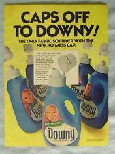 1985 Magazine Advertisement Ad Page Downy Fabric Softener No Mess Cap Laundry Ad