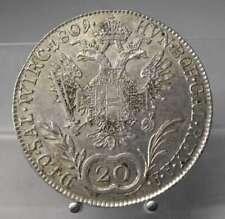 PRACHTSTÜCK!! 20 Kreuzer 1809 D, Salzburg, Franz I., Silber