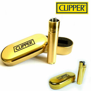 GENUINE METAL CLIPPER LIGHTERS CHROME METALLIC WITH GIFT CASE TIN VARIOUS COLOUR