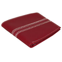 Mens Wallet Cricket Ball Stitch Design Nappa Leather RFID Great Novelty Gift
