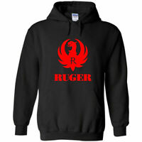 Ruger Red Logo Hoodie Sweatshirt 2nd Amendment Pro Gun Rights Rifle Pistol New