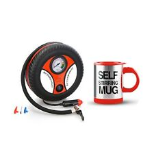 260PSI Auto Car Electric Tire Inflator with Self Stirring Mug (Red)