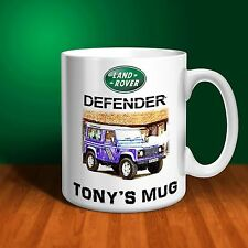Landrover Defender 90 110 Personalised Ceramic Mug Gift. (C001)