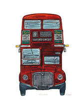 Routemaster by Barry Goodman Novelty UK London Cars Print Poster 23.5x31.5