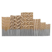 Set 60 Punte trapano HSS legno 1/1.5/2/2.5/3/3.5mm Titanium Twist Drill Bit
