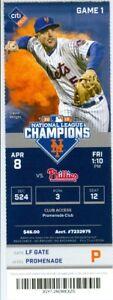 2016 Mets vs Phillies Ticket: Jacob deGrom Wins Home Opener