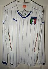 New Puma Italy National Soccer Team - White Long Sleeve Match Jersey