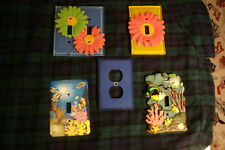 Mix Lot Of 4 Light Switch Cover Plate + 1 Outlet Cover 5 Total