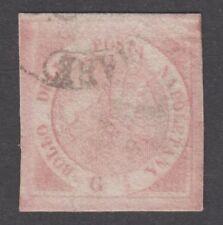 Napoli - 1858 1/2 grano rosa chiaro, annullato con ottimi margini - lotto 46