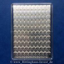Lingot d'argent 100x 1 G Valcambi 999 plaque Combibar 100 x 1 argent 100g