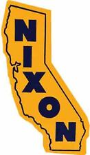 RIchard Nixon Governor California  vintage looking 1960's travel Decal   sticker