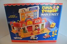 Vintage Fisher-Price Little People Mainstreet 100 % complete and in original box