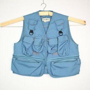 Vintage 90's LL Bean Fly Fishing Vest Men's Sz L Made in USA Rare Multi-Pocket