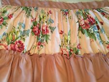 Vintage Ruffled Pair of Printed Cotton Fabric Panels - 1940's