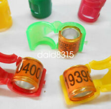 100pcs Pigeon Supplies racing club Bands leg pigeons birds Plastic Cover Rings