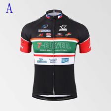 Retro Mens 7 Eleven Cycling Jersey Cycling Short Sleeve Jersey bicycle Jerseys