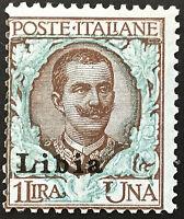 Italy Libia - Sassone n. 10ob cv 720  MNH** Variety Overprint moved to left