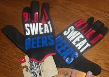 Size Large NWT Gas Monkey Garage Blood Sweat N Beers Gloves Red White Blue